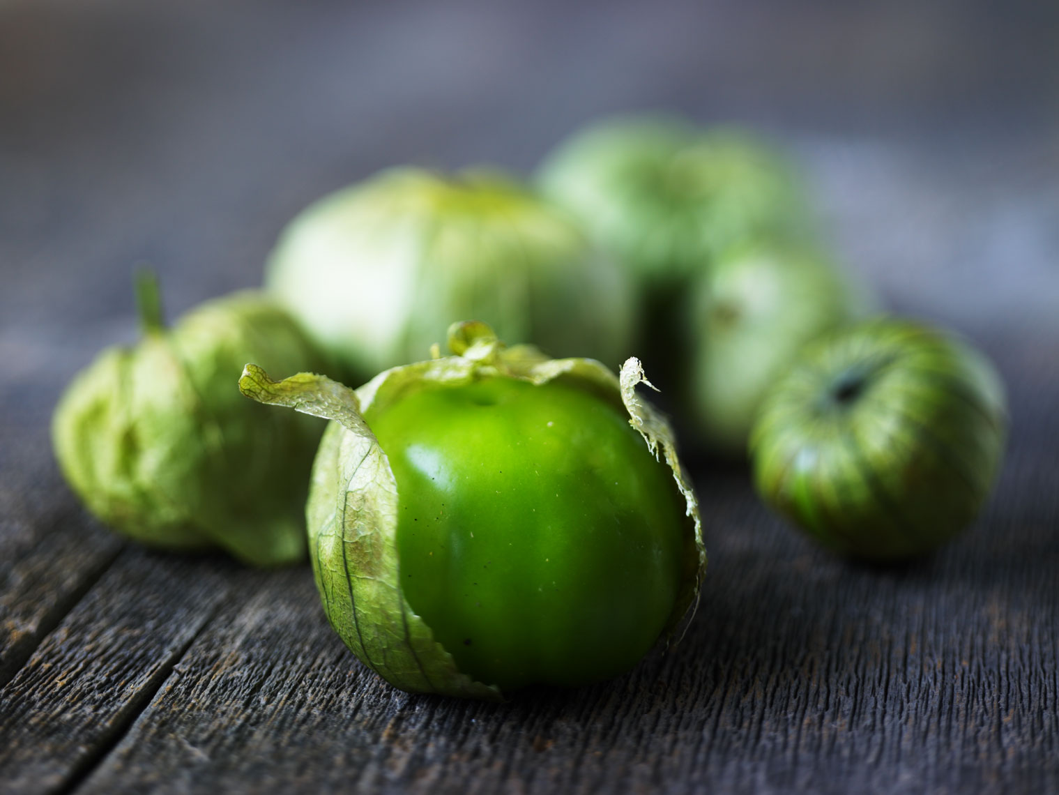 tomatillo on wood